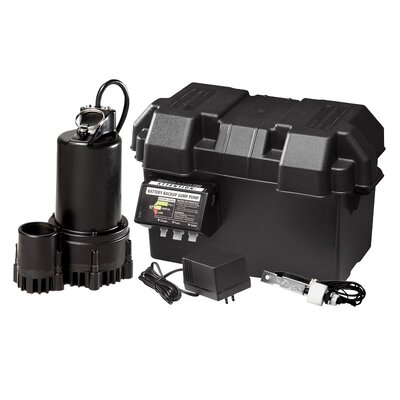 WAYNE 12V Thermoplastic Battery Back-Up Sump Pump System