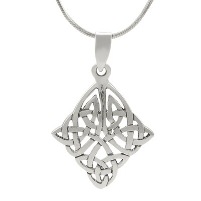 Skyline Silver Sterling Silver Celtic Knot Diamond Shape Necklace