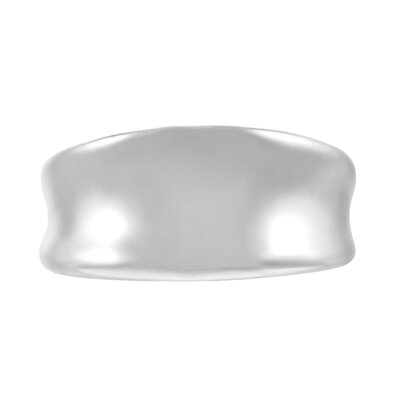 "Skyline Silver Sterling Silver Concave 0.79"" Ring"