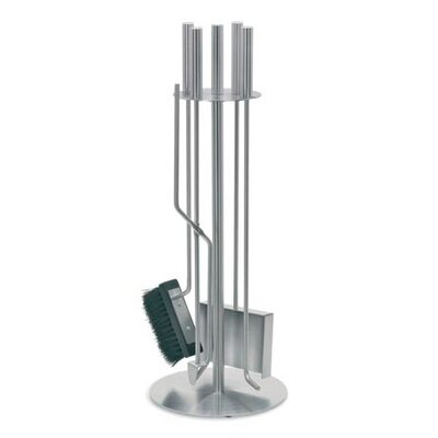 Chimo 4 Piece Stainless Steel Fireplace Tool Set