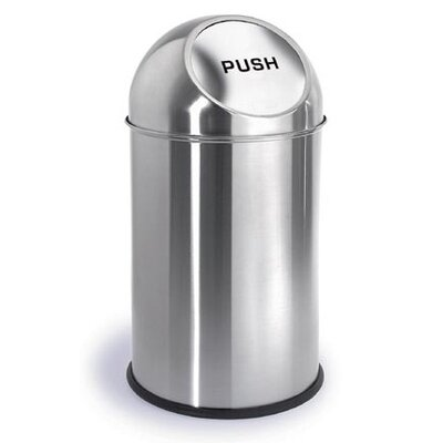 Blomus Intro 2.6-Gal. Pushman Trash Can