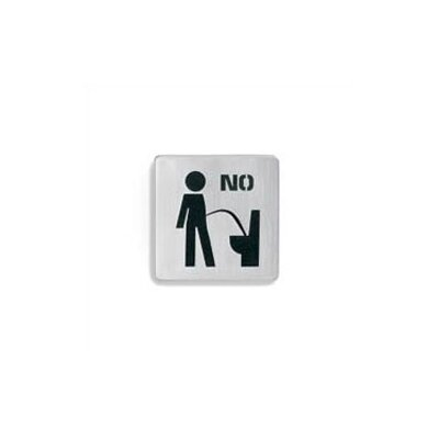 "Blomus Signo Door Plate ""Sit Down to Pee"""