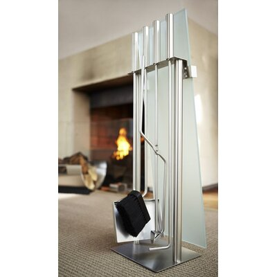 Blomus Chimo 4 Piece Stainless Steel Fireplace Tool Set