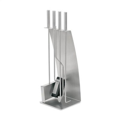Blomus Chimo Stainless 4 Piece  Steel Fireplace Tool Set