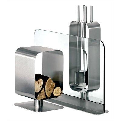 Blomus Bebop 4 Piece Stainless Steel Fireplace Tool Set