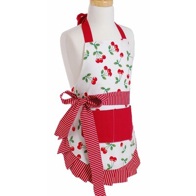 Girl's Apron in Very Cherry