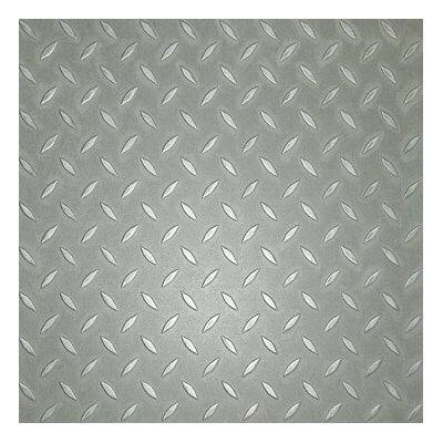 "Metroflor Metro Design Textured Metallic Tile 18"" x 18"" Vinyl Tile in Silver"