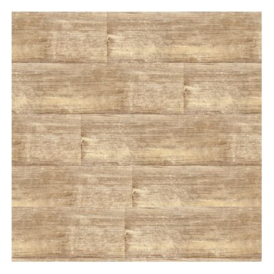 "Metroflor Solidity 20 Century 6"" x 36"" Vinyl Plank in Cottage Chestnut"