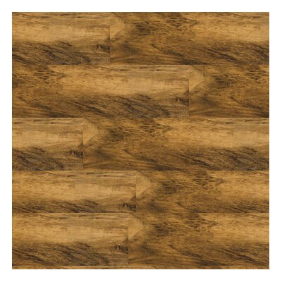 "Metroflor Solidity 20 Century 4"" x 36"" Vinyl Plank in Distressed Walnut"
