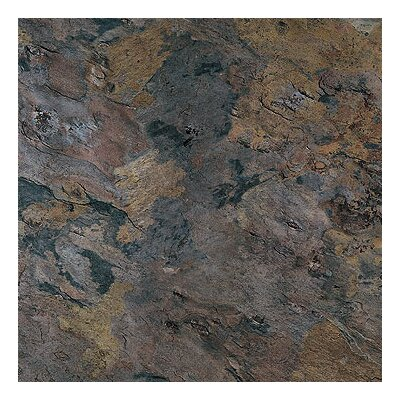 "Metroflor Solidity 40 Slate 16"" x 16"" Vinyl Tile in Sicilia"