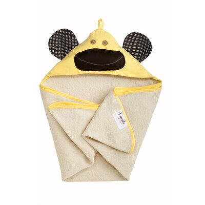 Yellow Monkey Hooded Towel
