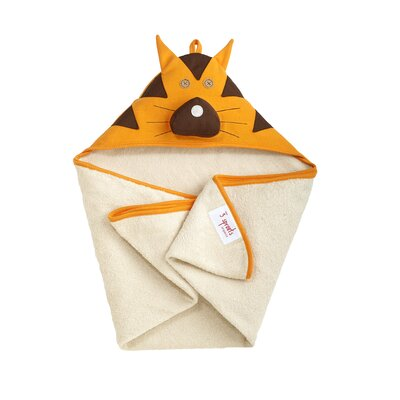 3 Sprouts Orange Tiger Hooded Towel
