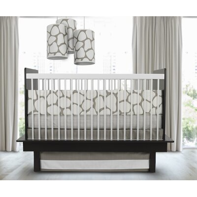 Oilo Cobblestone 3 Piece Crib Set in Taupe