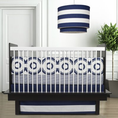 Oilo Wheels 3 Piece Crib Set in Cobalt Blue