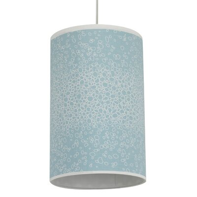 Oilo Raindrops Cylinder Light in Aqua