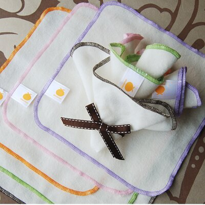 Satsuma Designs Organic Flannel Wash Cloths/Wipes (Set of 5)
