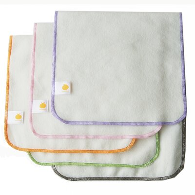 Satsuma Designs LLC Organic Flannel Burp Cloth 5 Pack