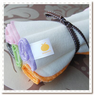 Satsuma Designs Organic Flannel Burp Cloth 5 Pack