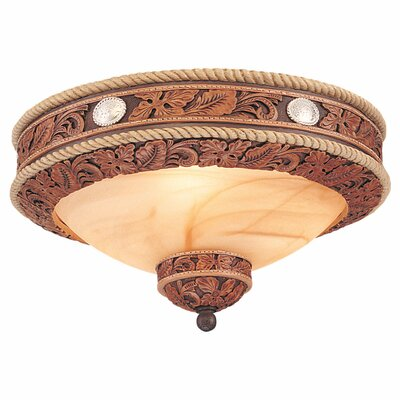 Monte Carlo Fan Company Durango Three Light Western Bowl Ceiling Fan Light Kit