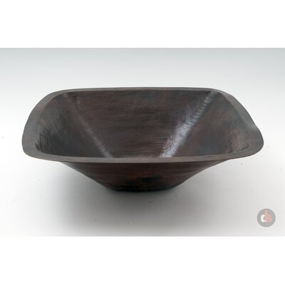 Copper Handmade Square Bathroom Sink - CS-BAT-SQU-2-DK
