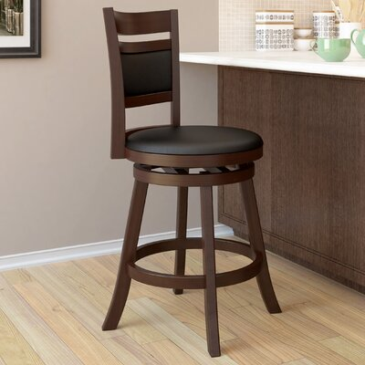 dCOR design Woodgrove Cushion Back Wooden Barstool