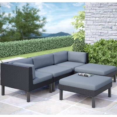 dCOR design Oakland 5 Piece Lounge Seating Group with Cushion