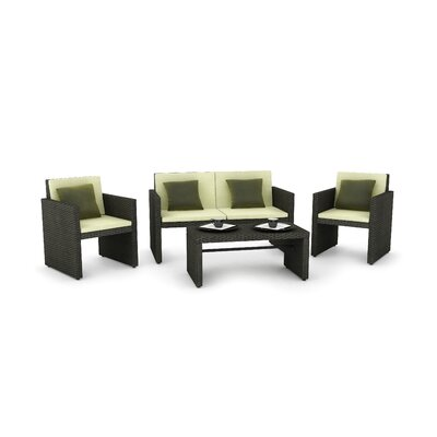 dCOR design Creekside 4 Piece Lounge Seating Group with Cushions