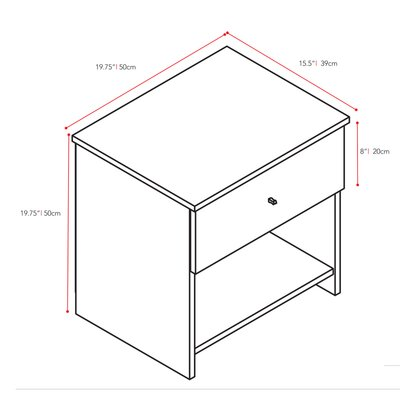 dCOR design Plateau 1 Drawer Nightstand
