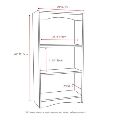 "dCOR design Hawthorn 48"" Tall Bookcase"