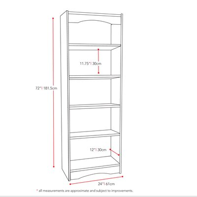 dCOR design Hawthorn 72' Tall Bookcase