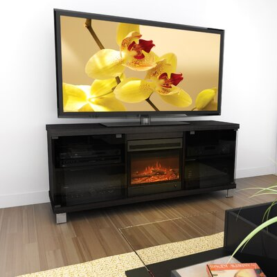 "dCOR design Holland 60"" TV Stand with Electric Fireplace"