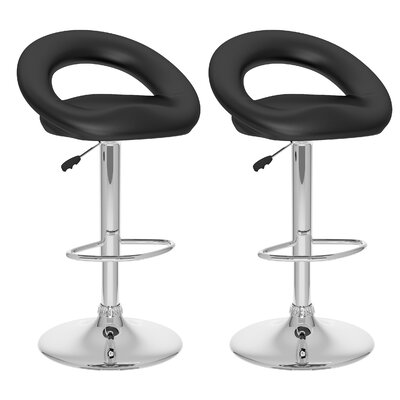dCOR design CorLiving Round Open Back Adjustable Barstool (Set of 2)