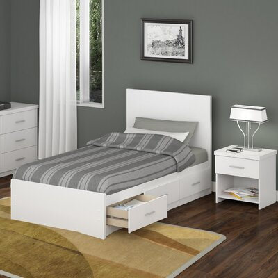 dCOR design Willow Storage Platform 2 Piece Bedroom Collection