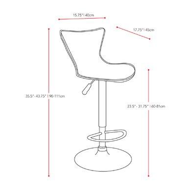 "dCOR design CorLiving 23.5"" Adjustable Bar Stool"