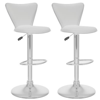 dCOR design CorLiving Tall Curved Back Adjustable Barstool (Set of 2)