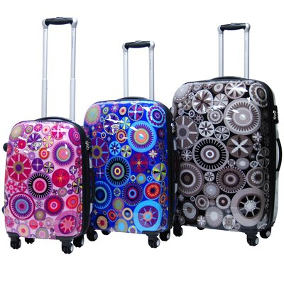 CalPak Carnival Expandable Hardsided 3 Piece Spinner Luggage Set