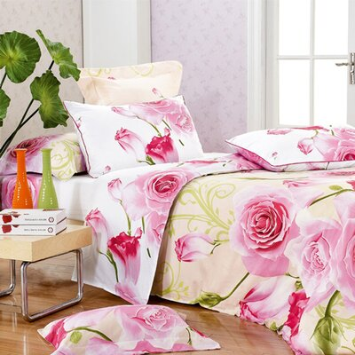 Joy Full / Queen 4 Piece Duvet Cover Set