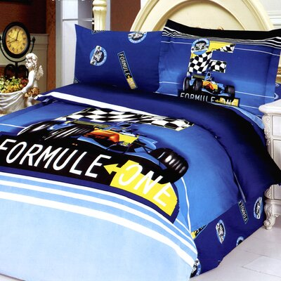 Formula 4 Piece Twin Duvet Cover Set