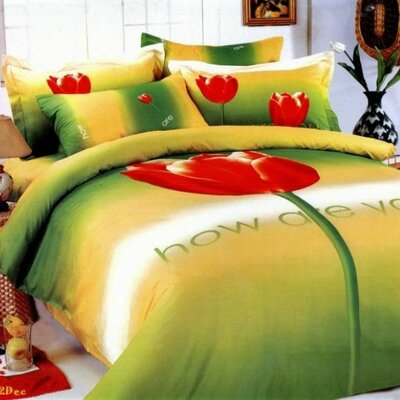 Le Vele Tulip 4 Piece Duvet Cover Set