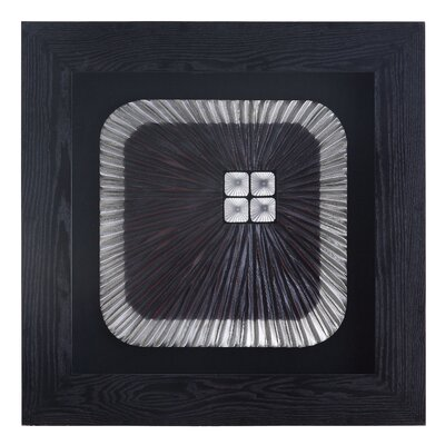 "Crestview Collection Black/White Square Laser Wood Framed Wall Decor - 31.5"" x 31.5"""