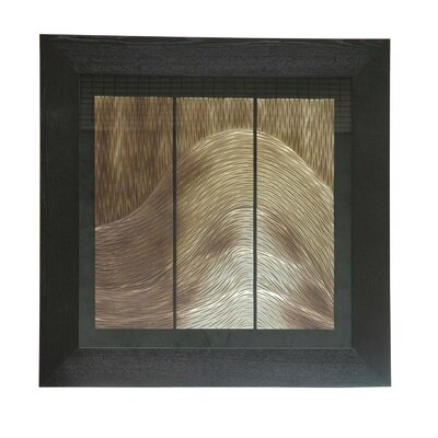 "Crestview Collection Thin Waves Wooden Shadow Box - 36"" x 36"""