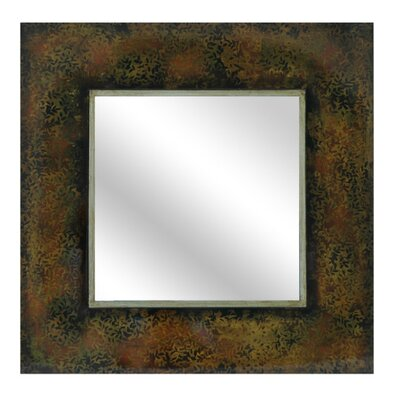 Beveled Leaf Pattern Framed Wall Mirror