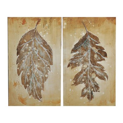 Crestview Collection Derasi 2 Peice Painting Print on Canvas Set
