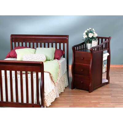 Sorelle Tuscany 4-in-1 Convertible Crib and Changer Combo