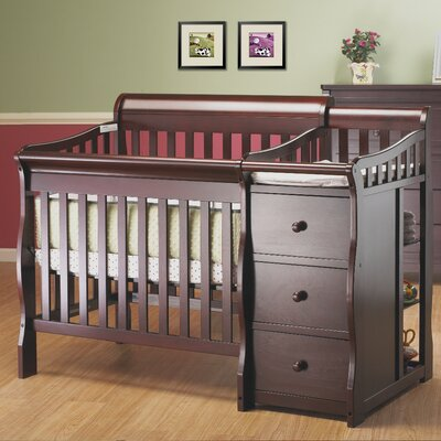 Sorelle Newport 2-in-1 Convertible Mini Crib and Changer Combo