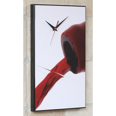 Red Wine Pour Wall Clock