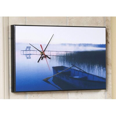 Wilson Studios Fishing Row Boat Wall Clock