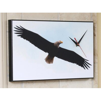 Souring Bald Eagle Wall Clock