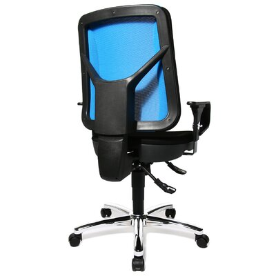 Topstar Artwork  Height Adjustable Swivel Chair in Black and Blue Mesh