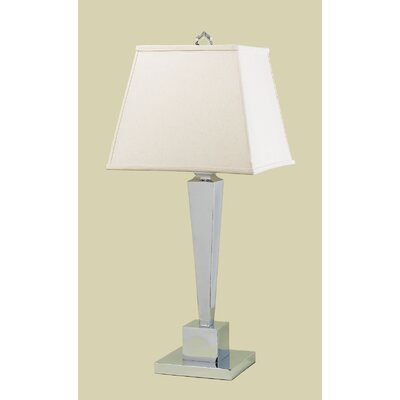 AF Lighting Margo One Light Table Lamp with Cream Poly Silk Shade in Polished Chrome